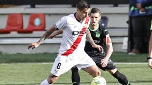Trejo, durante el derbi disputado entre el Rayo y el Leganés.