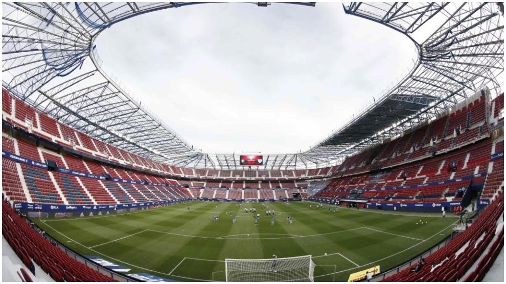 Imagen de archivo de El Sadar, estadio de Osasuna, sin público en las gradas.