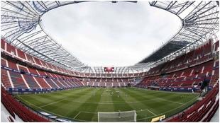 Imagen de archivo de El Sadar, estadio de Osasuna, sin público en las...