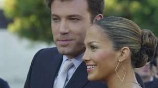 Ben Affleck y Jennifer López, en una imagen de 2003 cuando estaban...