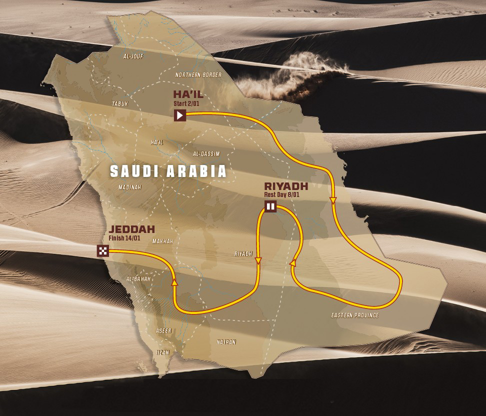 Recorrido Rally Dakar 2022