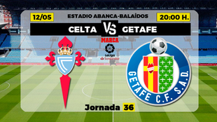 Celta Getafe Liga - Donde ver TV horario canal Partidos futbol hoy