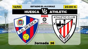 Huesca Athletic Liga - Donde ver TV Horario Canal Partidos Futbol hoy