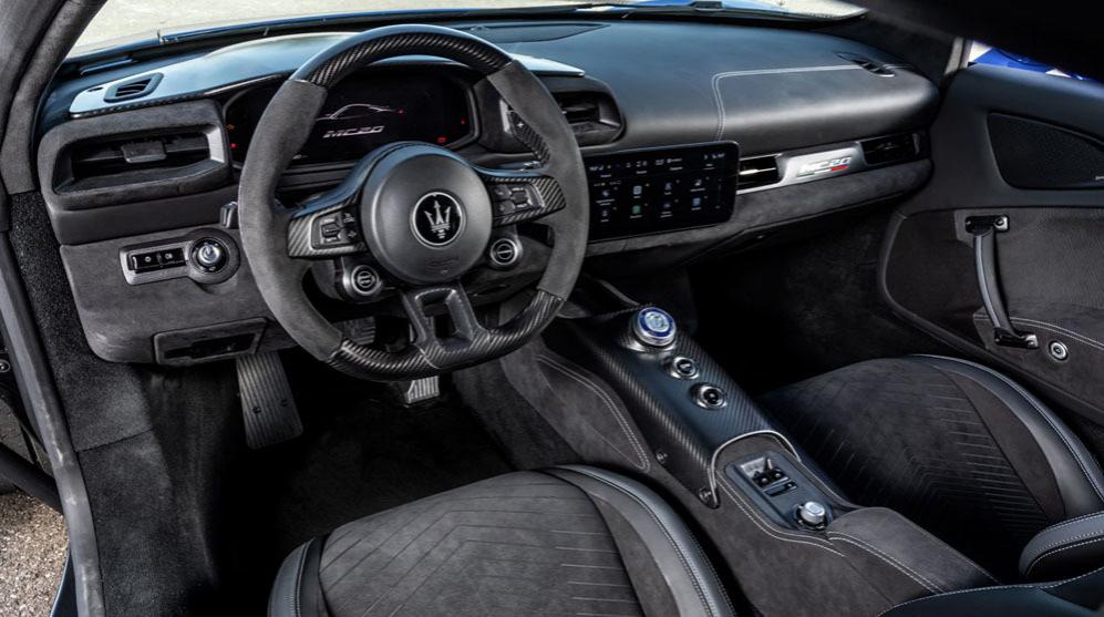 Interior Maserati MC20, sportcar, luxury cars, superdeportivos, Modena
