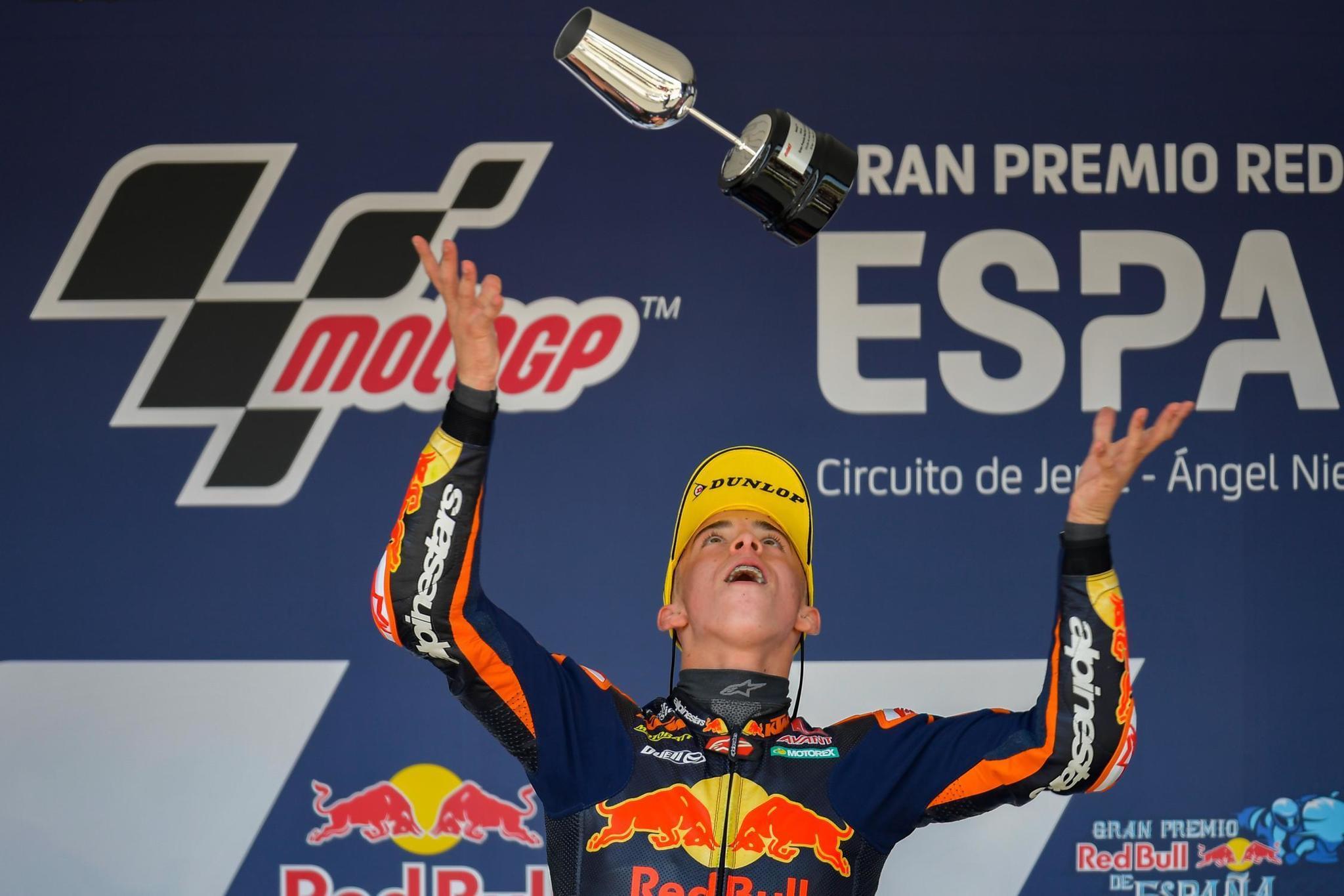 Pedro lt;HIT gt;Acosta lt;/HIT gt;, ganador del GP de España de Moto3 / Firma: MotoGP.com
