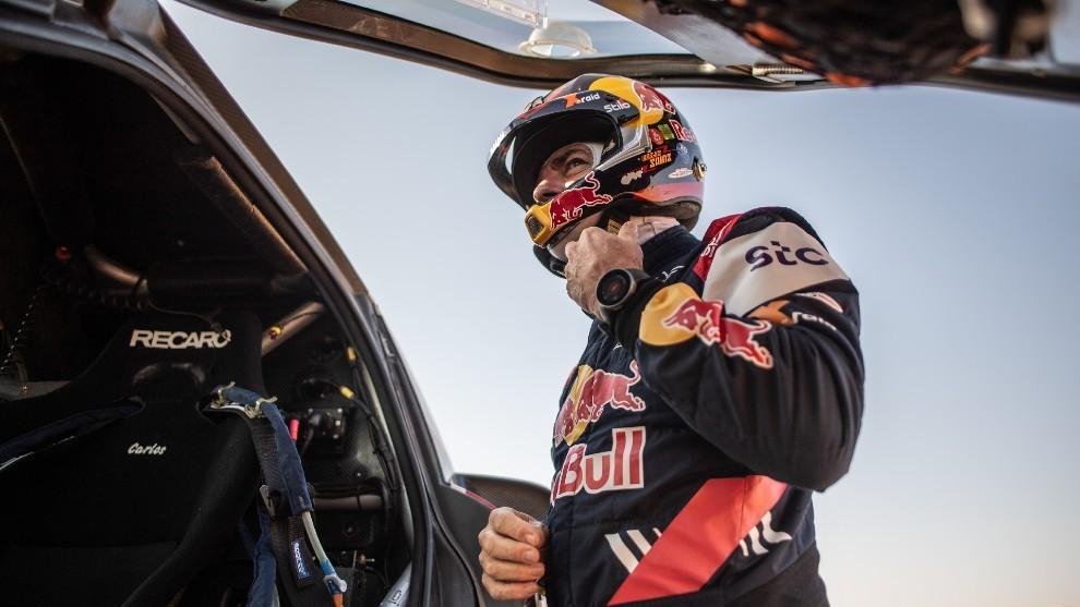 Carlos Sainz, durante el último Dakar disputado en Arabia Saudí el...