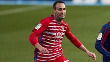 Víctor Díaz, durante el partido que enfrentó al Granada al...