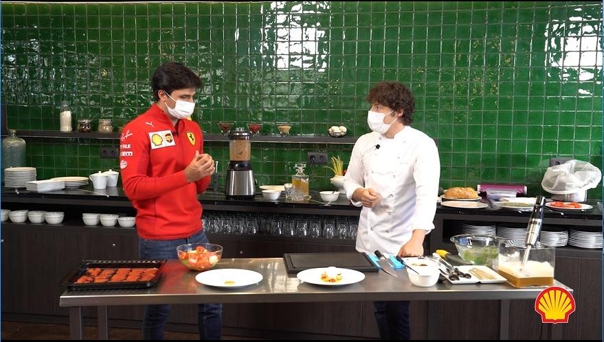 Carlos Sainz y Jordi Cruz, entre aceites
