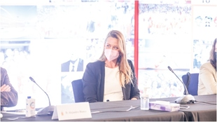Mireia Belmonte, en el COE