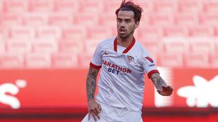 El gaditano Suso (27), en el partido frente al Valencia en el...