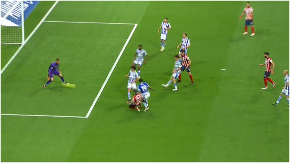 Carrasco adelanta al Atlético