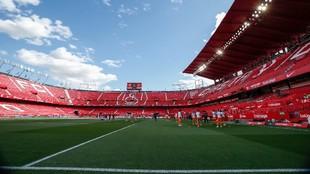Imagen del Sánchez-Pizjuán antes del Sevilla-Valencia.