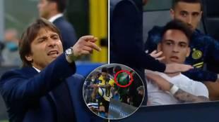 Conte y Lautaro se encaran en pleno partido: y la frase del técnico está dando que hablar