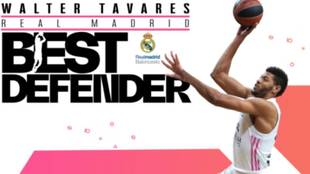 Walter Tavares, mejor defensor de la Euroliga en la temporada...