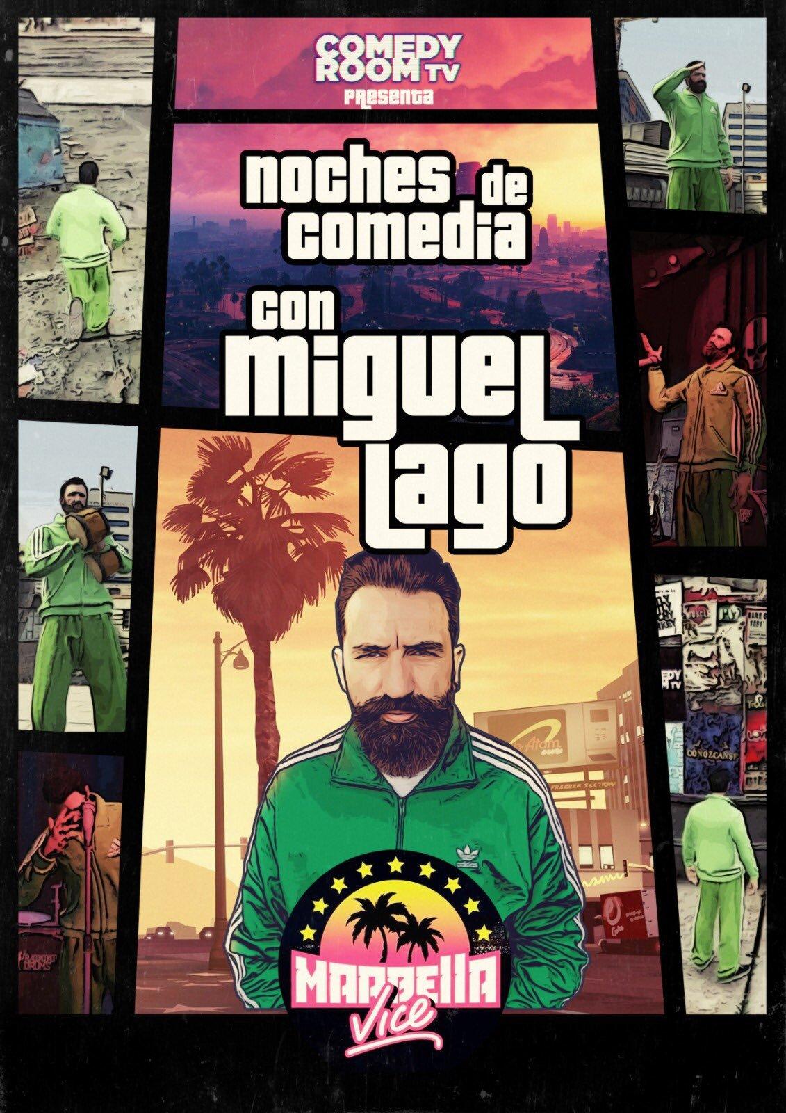 Cartel del show que protagonizará Miguel Lago en Marbella Vice