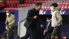 Simeone celebrates the win over Real Sociedad.