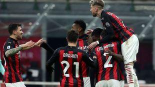 AC Milan celebrate a goal