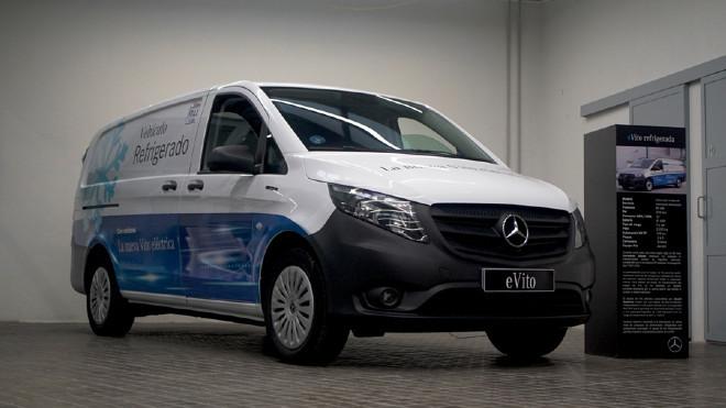 La Mercedes-Benz eVito refrigerada.