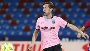 Sergi Roberto en el duelo del Barcelona ante Levante.