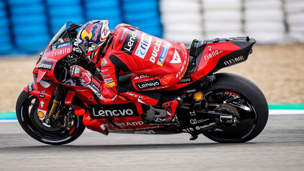Jack Miller, con su Ducati.