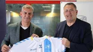 Fernando Barbeito, en su presentación como próximo entrenador del...