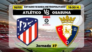 Atletico de Madrid Osasuna Liga - Donde ver TV Horario Canal Partidos...