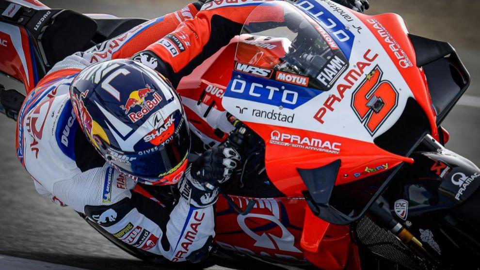 Zarco, sobre su Ducati.