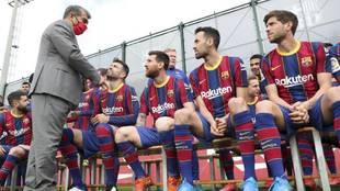 Barcelona Messi Koeman Laporta