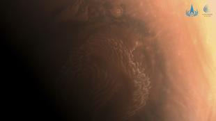 Fotografía de la superficie de Marte realizada por Tianwen-1.