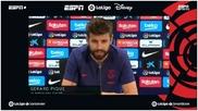 Gerard Piqué, durante la presentación del acuerdo entre LaLiga  y...