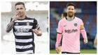 Un montaje con imágenes de Rubén Castro y Messi.