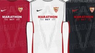 Imagen de las posibles equipaciones del Sevilla 2021-2022