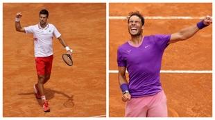 Djokovic y Nadal celebran sus victorias