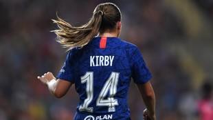 Fran Kirby, durante un partido con el Chelsea.