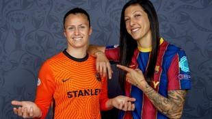 Sandra Paños y Jenni Hermoso, en una imagen de archivo.