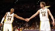 """Un emocionado Pau acompaña a su """"hermano"""" Kobe al Hall of Fame"""