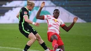 RB Leipzig y Wolfsburg dividen puntos.