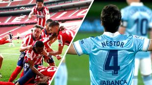 Atlético vence al Osasuna y el Celta al Barcelona.