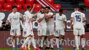 Real Madrid gana en San Mamés con un gol de Nacho.