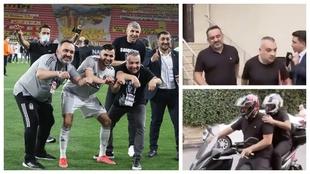 Ghezzal celebra el título 'conduciendo' una moto junto a...