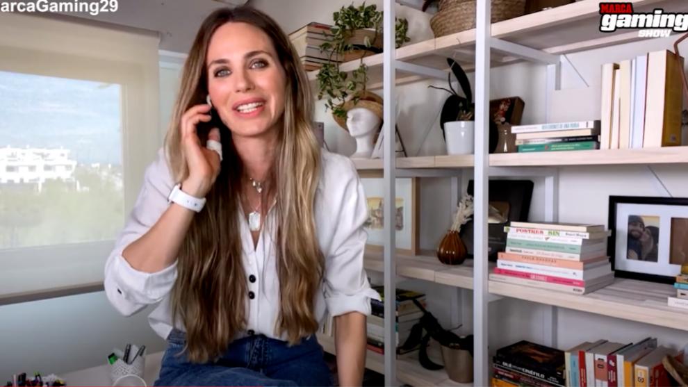 Vanesa Romero, durante un momento de la entrevista
