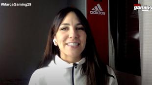 Irene Junquera, durante su sección