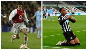José Antonio Reyes, con el Arsenal, y Joe Willock, con el Newcastle.