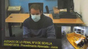 El rapero Hasél, declarando desde la cárcel