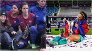 Aitana Bonmatí, en el torneo de Tàrrega en 2011 y en la final de la...