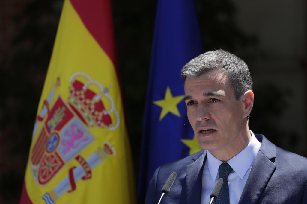 Pedro Sánchez, durante su declaración institucional ante la crisis con Marruecos /