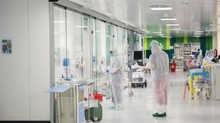 Instalaciones de un hospital donde ha ingresados por COVID.