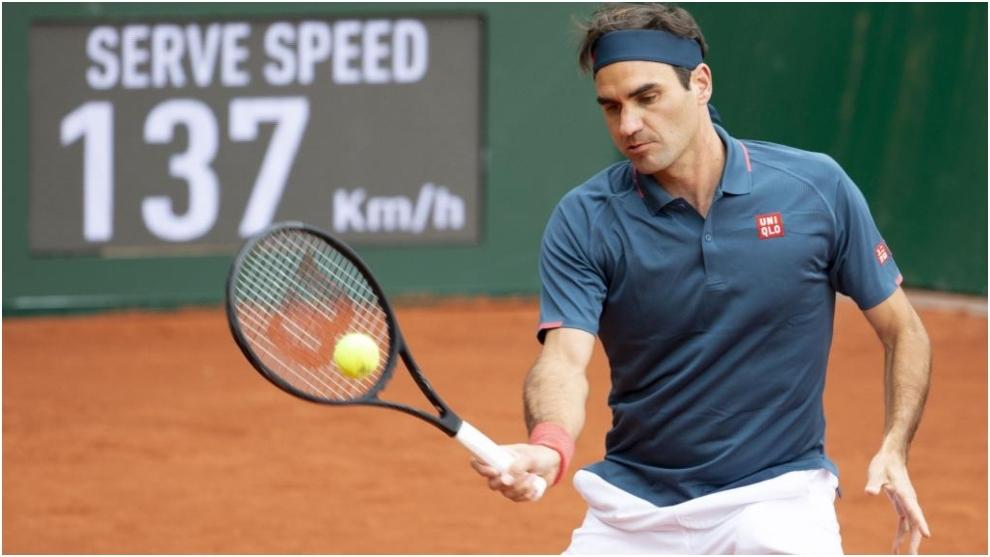 Roger Federer, en un momento del partido ante Pablo Andújar.