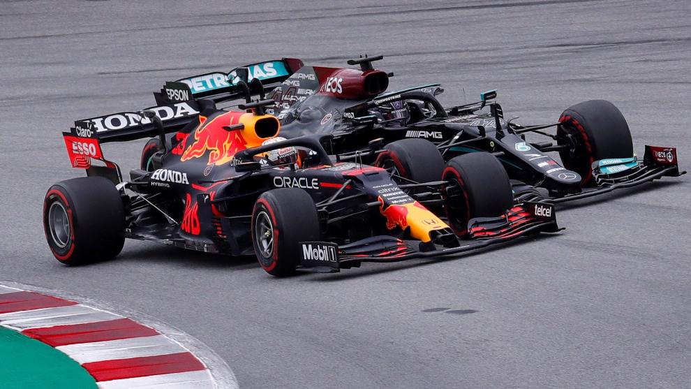 Verstappen y Hamilton, emparejados en el GP de España.