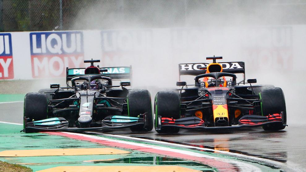 Hamilton y Verstappen e Imola.